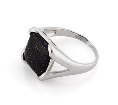 Фото«GZ-3756» Серебряное кольцо с авантюрином