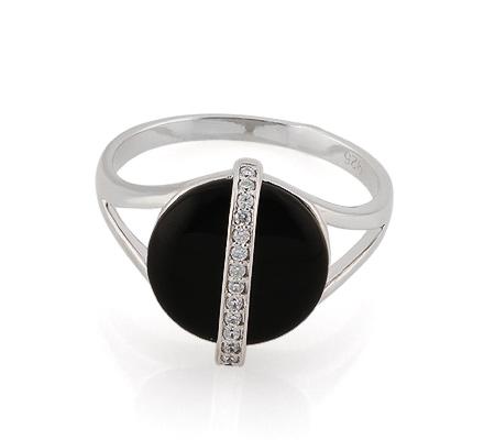 Фото«GZ-3759» Серебряное кольцо с ониксом
