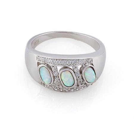 Фото«GZ-3767» Серебряное кольцо с опалом