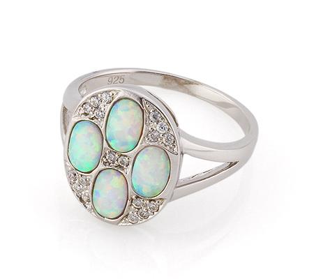 Фото«GZ-3769» Серебряное кольцо с опалом