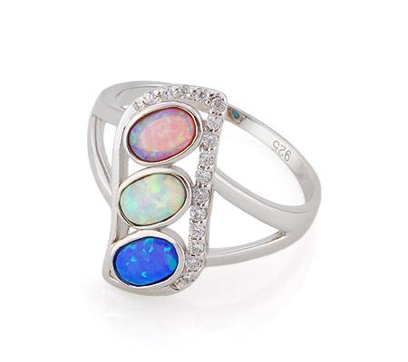 Фото«GZ-3776» Серебряное кольцо с опалом
