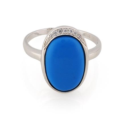 Фото«GZ-3781» Серебряное кольцо с бирюзой