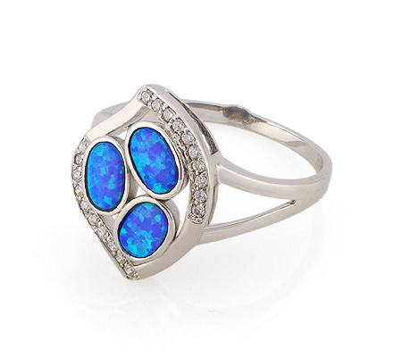 Фото«GZ-3789» Серебряное кольцо с опалом