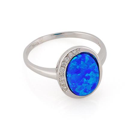 Фото«GZ-3790» Серебряное кольцо с опалом
