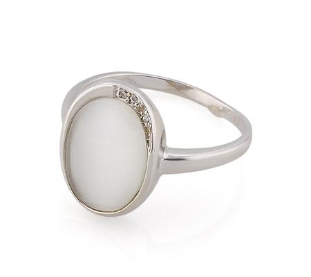 Фото«GZ-3799» Серебряное кольцо с кошачьим глазом