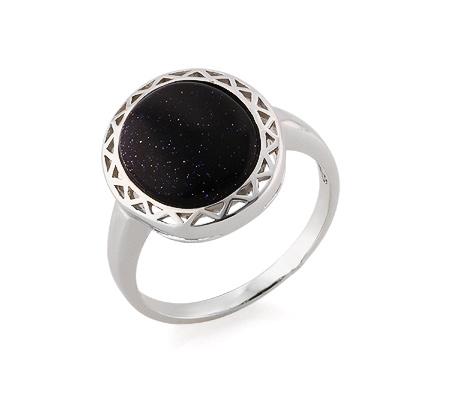 Фото«GZ-3807» Серебряное кольцо с авантюрином