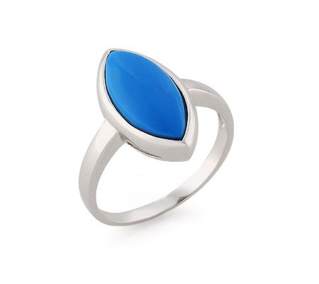 Фото«GZ-3818» Серебряное кольцо с бирюзой