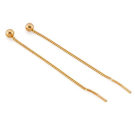 серьги пусеты золотые с эмалью