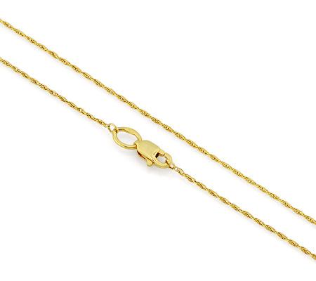 Фото«VGF-4608»Тонкая женская цепочка из желтого золота «Веревочка»