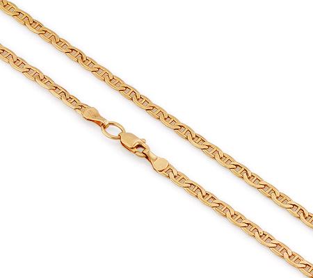 Фото«VGL-4610»Плоская золотая цепь плетение «Морская цепь Картье»