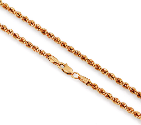 Фото«VGL-4611»Толстая золотая цепочка «Веревка» полая