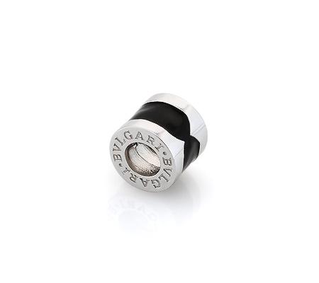 Фото«GZ-5962»Серебряный кулон Bvlgari Булгари с черной эмалью