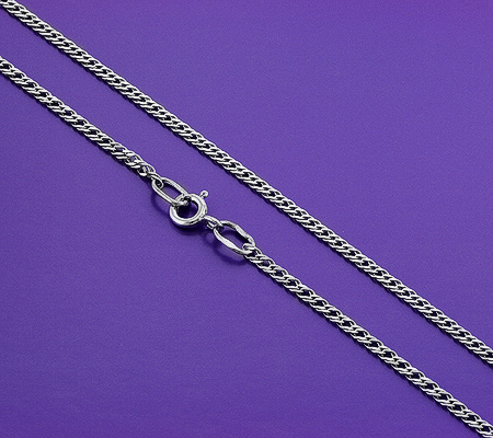 Фото«GZ-5997»Серебряная цепочка плетение «Двойной Ромб»