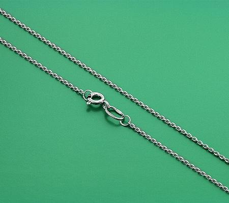 Фото«GZ-5998»Тонкая серебряная цепочка плетение «Якорное»