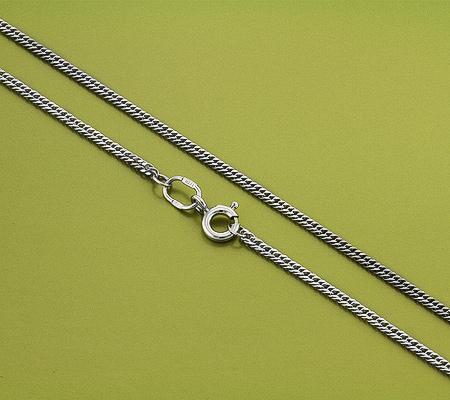 Фото«GZ-6000»Серебряная цепочка плетение «Панцирное плоское»