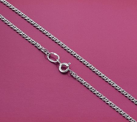 Фото«GZ-6003»Женская серебряная цепочка плетение «Нона»