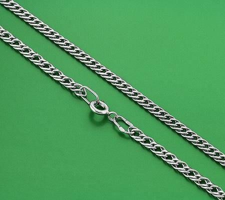 Фото«GZ-6004»Мужская серебряная цепочка плетение «Двойной Ромб»