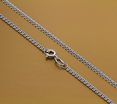 Фото«GZ-6005»Женская серебряная цепочка плетение «Лав»