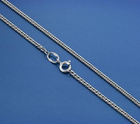 Фото«GZ-6006»Серебряная цепочка плетение «Панцирное плоское»
