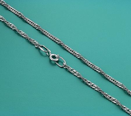 Фото«GZ-6007»Цепочка из серебра плетение «Панцирное крученое»