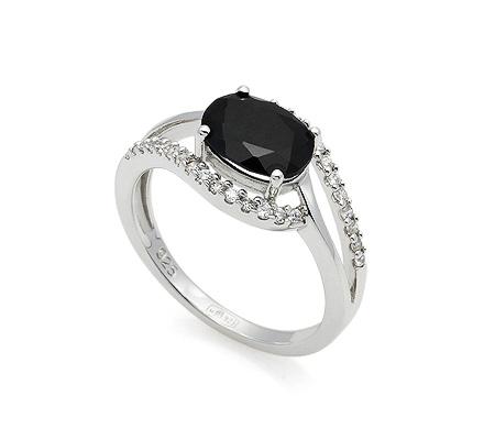 Фото«GZ-7049»Серебряное кольцо с сапфиром и цирконом