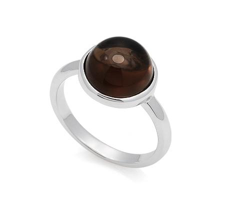 Фото«GZ-7073»Кольцо с раух топазом / дымчатым кварцем серебряное