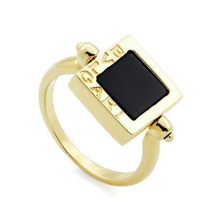Фото«GZ-8400»Золотое кольцо Булгари с ониксом