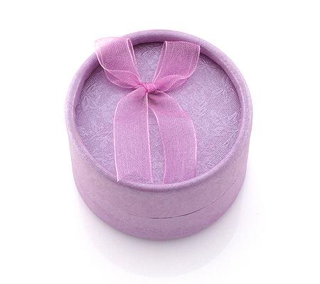 Фото«KGK-022»Коробочка картонная под кольцо или серьги фиолетовая