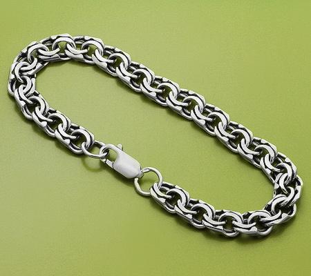 Фото«KU-1210»Браслет из серебра для мужчины