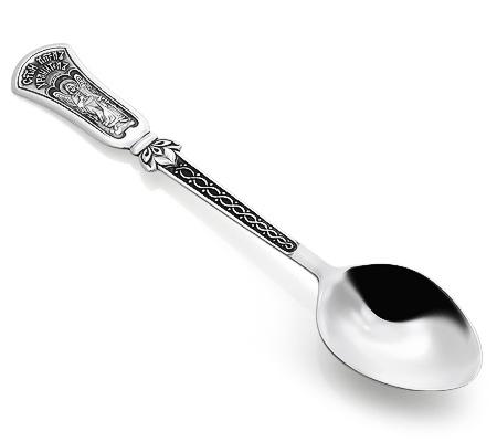 Фото«KU-023»Чайная серебряная ложка «Святой Ангел-Хранитель»