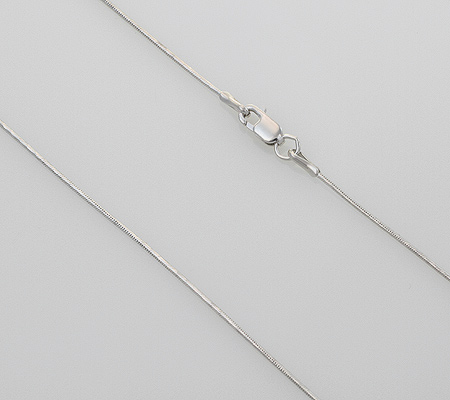 Фото«NCF-180783»Цепочка из белого золота «Снейк»