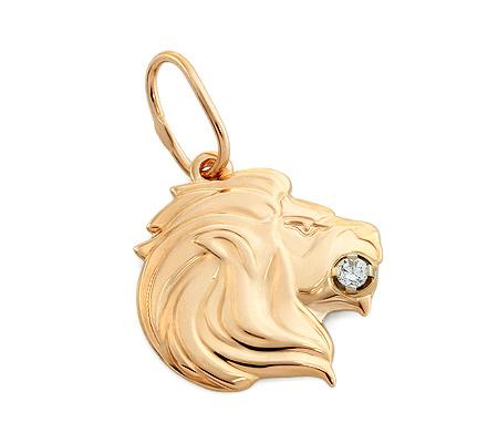 Фото«OS-33LEV1»Золотая подвеска знак зодиака «Лев»