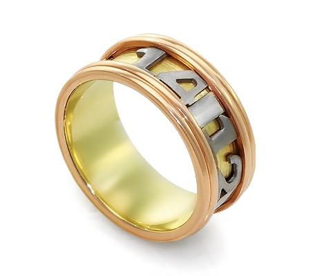 Фото«RG-PN001»Дизайнерское оригинальное золотое обручальное кольцо