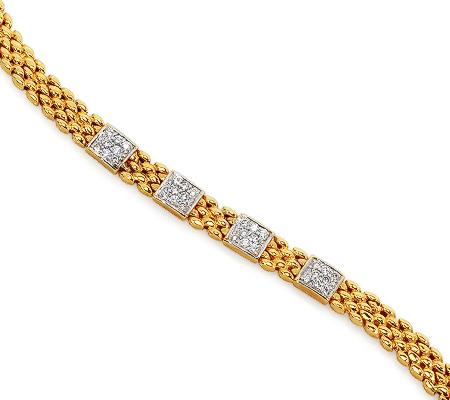 Фото«RG-0926»Женский браслет из желтого золота 750° с бриллиантами