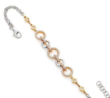 Фото«RG-0967»Золотой цепочный женский браслет с бриллиантами