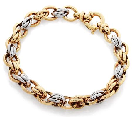 Фото«RG-1913»Толстый женский золотой браслет без вставок