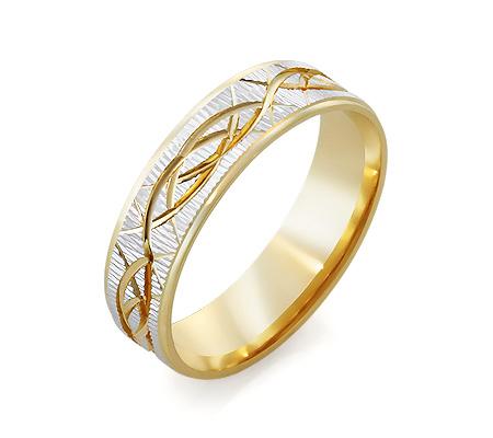 Фото«RG-2644»Дизайнерское обручальное кольцо из желтого золота