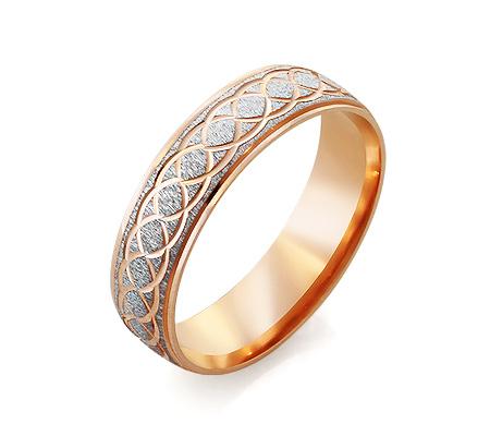 Фото«RG-2645»Дизайнерское обручальное кольцо из розового золота