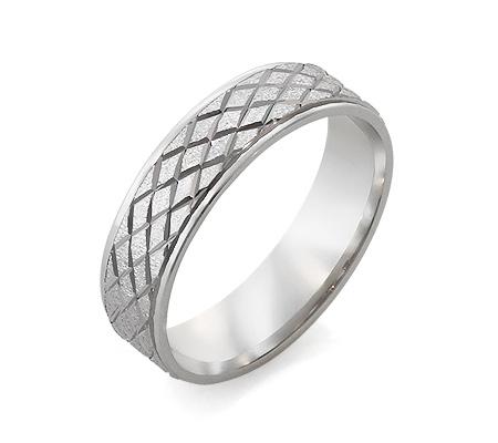 Фото«RG-2646»Дизайнерское обручальное кольцо из белого золота