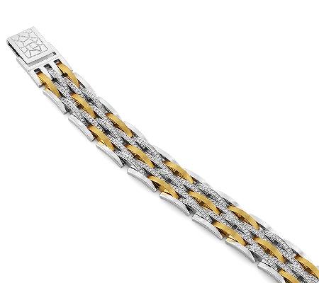 Фото«RG-2982»Браслет из белого и желтого золота с бриллиантами