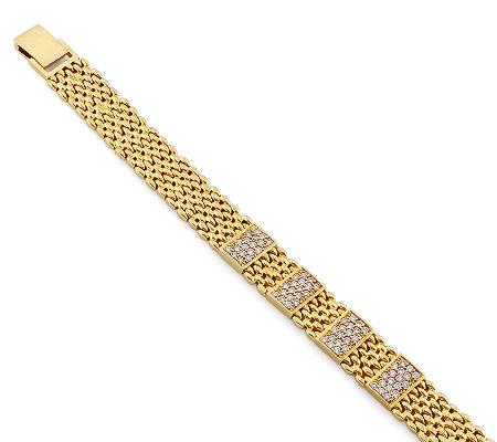 Фото«RG-2983»Женский браслет из желтого золота с бриллиантами