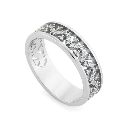 Фото«RG-3358»Кольцо из белого золота с бриллиантами