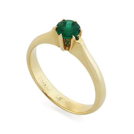 Фото«RG-3366»Золотое кольцо с изумрудом желтое золото