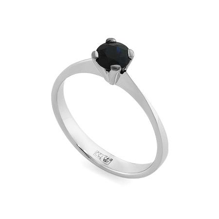 Фото«RG-3386»Золотое кольцо с сапфиром белое золото 750 пробы