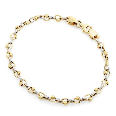 Фото«RG-3581»Женский браслет из желтого и белого золота