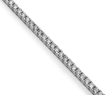Фото«RG-9905»Женский браслет из белого золота дорожка из бриллиантов