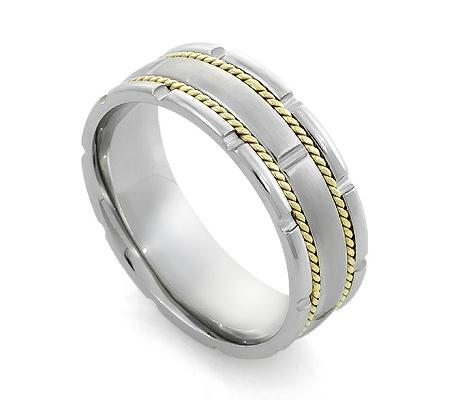 Фото«RG-H2573»Эксклюзивное обручальное кольцо из белого золота