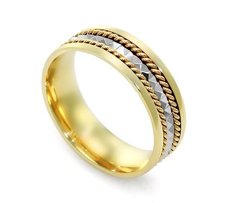 Фото«RG-PE001»Эксклюзивное обручальное кольцо из желтого золота