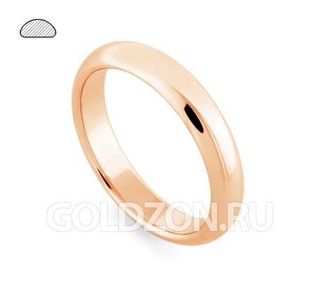 Фото«RG-W245R»Выпуклое обручальное кольцо, красное золото, классика