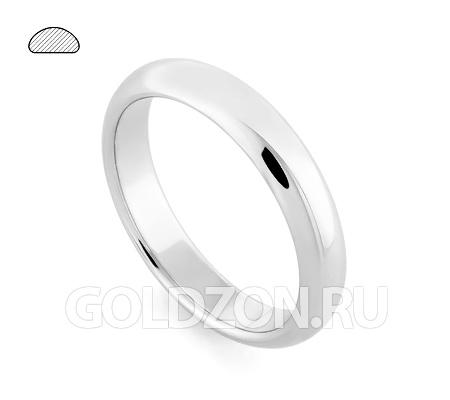 Фото«RG-W245W»Выпуклое обручальное кольцо, белое золото, классика